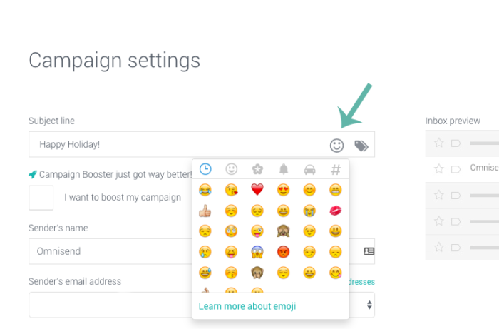 Add more emojis and icons to give your video email marketing a boost