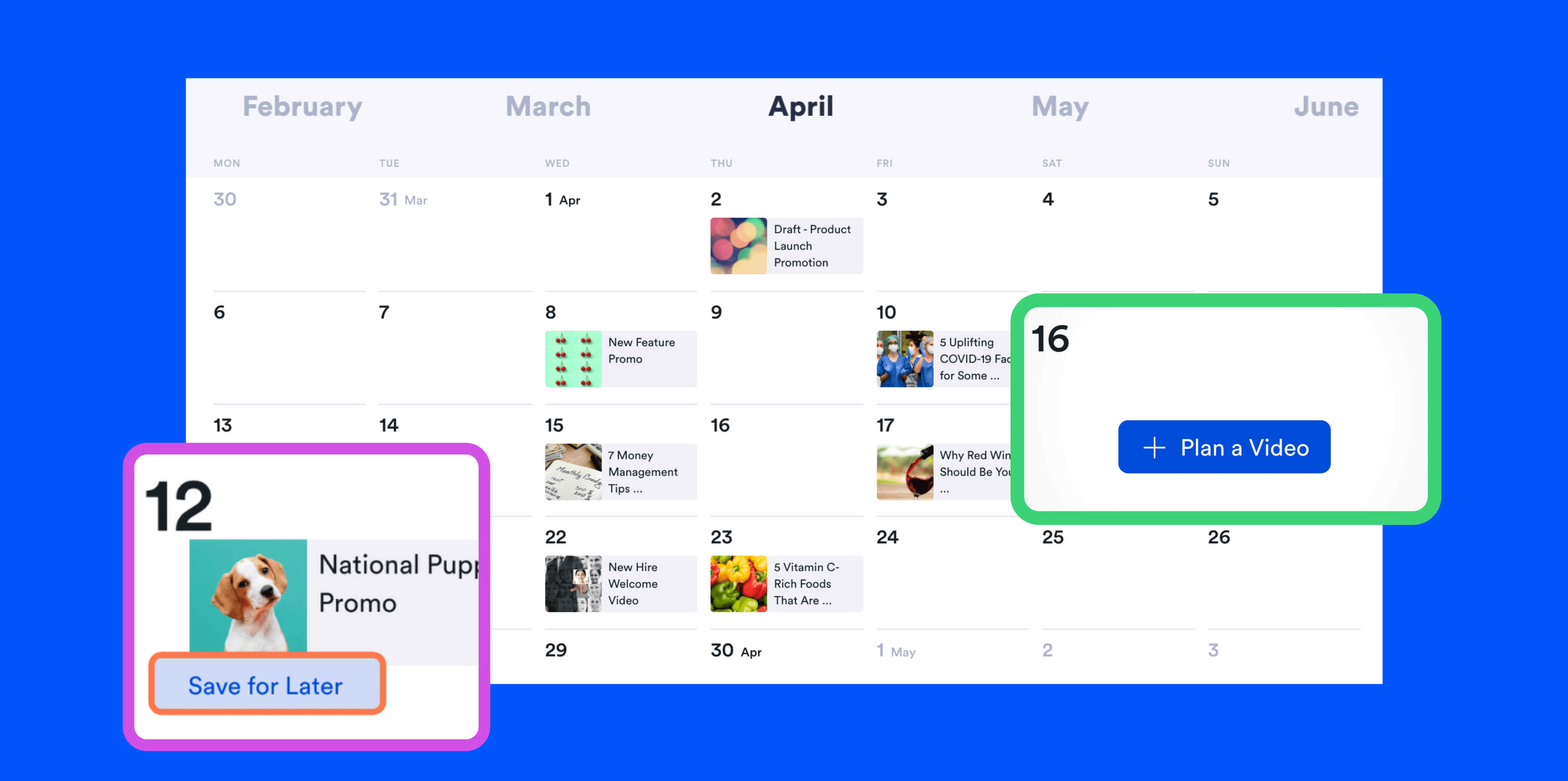 The content calendar tool for mapping your video content calendar